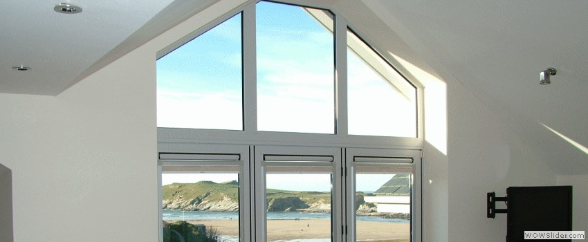 Penthouse Bi-Fold Doors and Glass into Apex